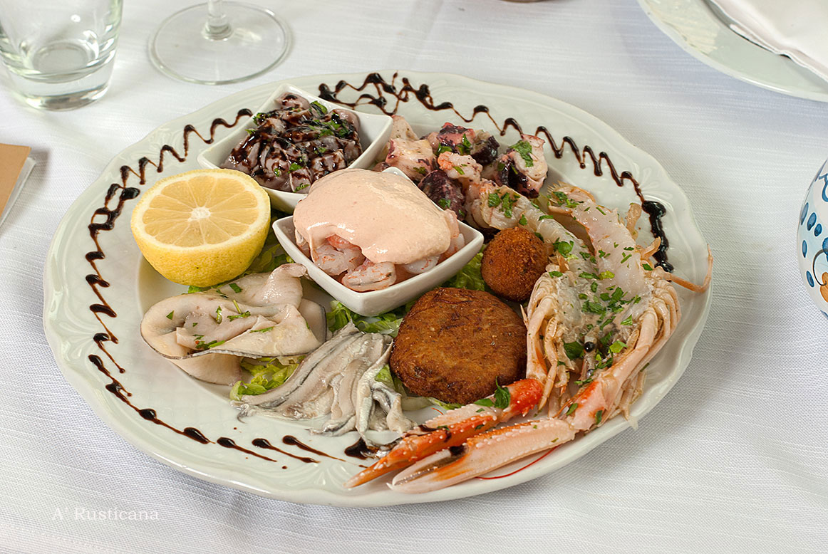Mixed seafood appetizer