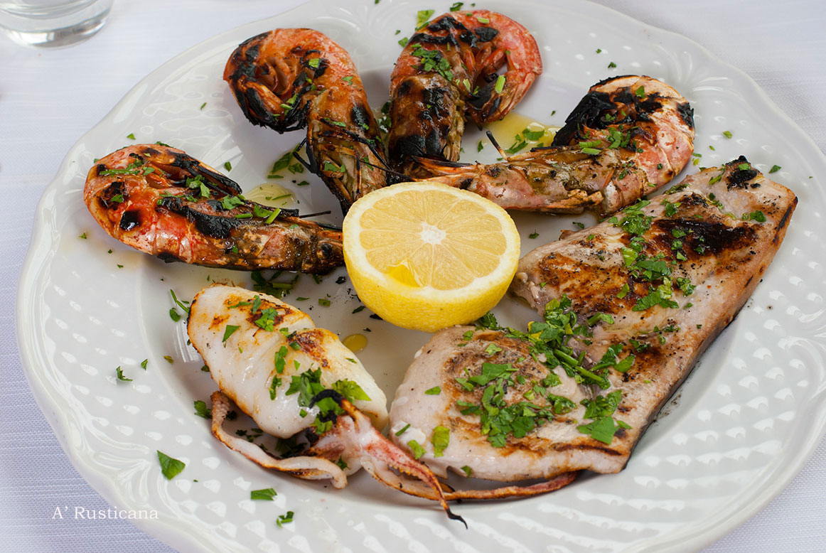 Mixed fish grill